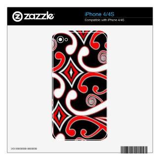 maori designs iPhone 4S decal