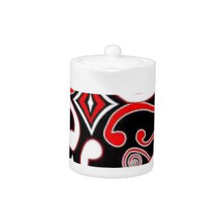 maori designs teapot