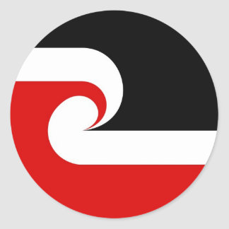 maori ethnic flag new zealand country round stickers