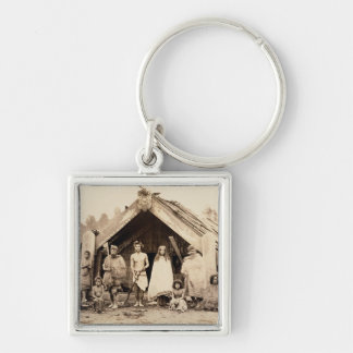 Maori Family, New Zealand, c.1880s (albumen print) Key Chains