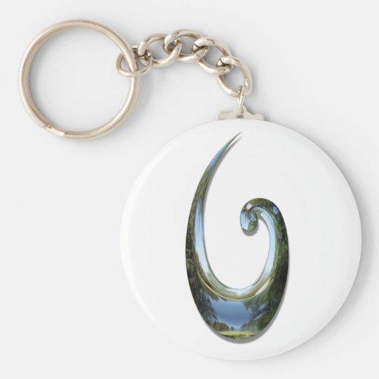 Maori Fish Hook - Chrome Keychain