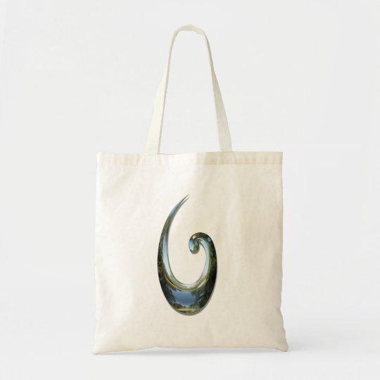 Maori Fish Hook - Chrome Tote Bag