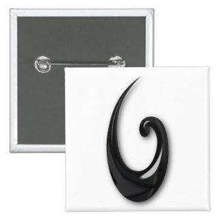 Maori-Fish Hook-obsidian Pin