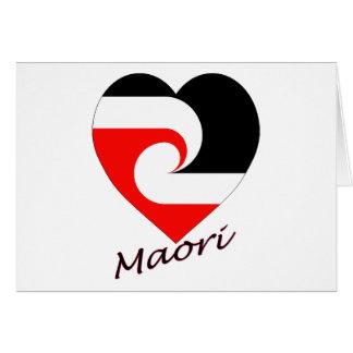 Maori Flag Heart Card