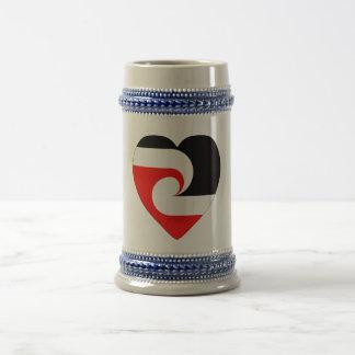 Maori Flag Heart Coffee Mug