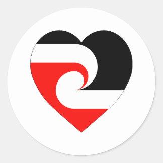Maori Flag Heart Stickers