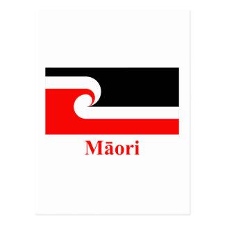 Maori Flag with Name in Maori Postcard