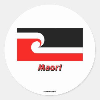 Maori Flag with Name Sticker