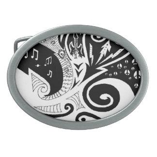 Maori freedom oval belt buckle