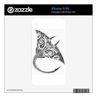 maori giant manta ray decal for the iPhone 4
