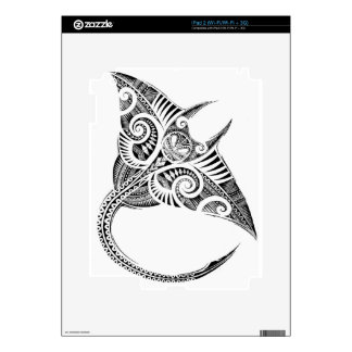 maori giant manta ray iPad 2 skin