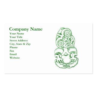 Maori Hei-Tiki Sketch Business Card