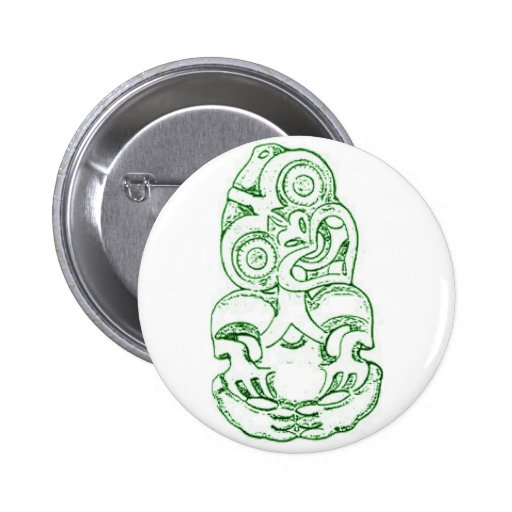 Maori Hei-Tiki Sketch Button