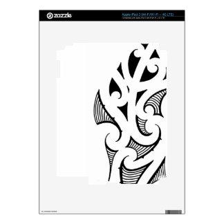 Maori koru shape pattern basic design skins for iPad 3