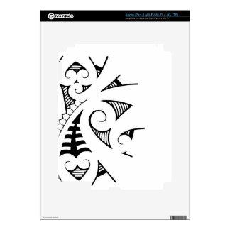 Maori koru tattoo design decals for iPad 3