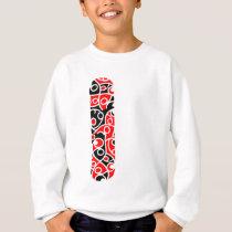 Maori Kowhaiwhai Band Pattern Sweatshirt