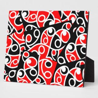 Maori Kowhaiwhai Layered Pattern Plaque