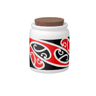 Maori Kowhaiwhai Pattern 2 Jar Candy Jar