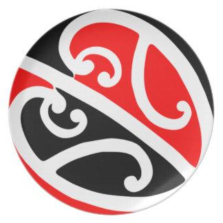 Maori Kowhaiwhai Pattern 2 Melamine Plate