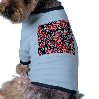 Maori Kowhaiwhai Tribal New Zealand Doggie T-shirt
