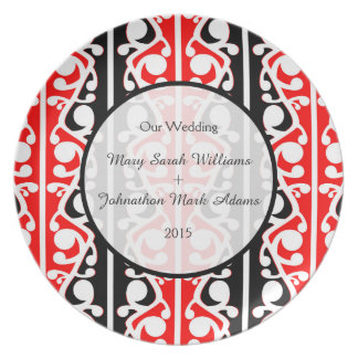 Maori Kowhaiwhai Wedding Keepsake Melamine Plate