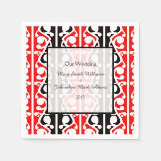 Maori Kowhaiwhai Wedding Keepsake Paper Napkin