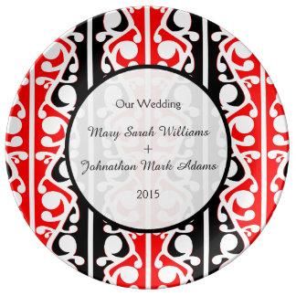 Maori Kowhaiwhai Wedding Keepsake Porcelain Plate