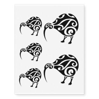 maori pattern aotearoa kiwi temporary tattoo