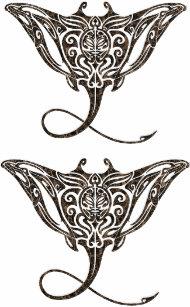 6bc5b0a5a81ad maori pattern stingray temporary tattoo x2
