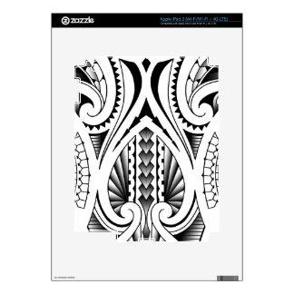 Maori / Polynesian tribal tattoo pattern iPad 3 Decals