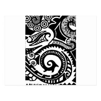 maori postcard