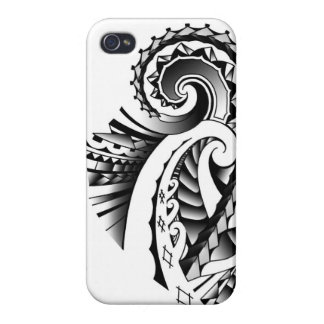 Maori/Samoan tribal tatoo art iPhone 4 Case