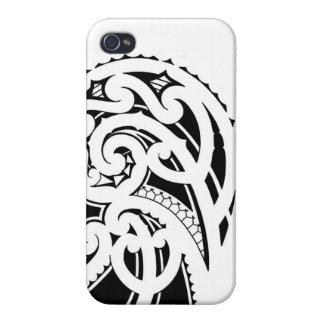 Maori shoulder tattoo design case for iPhone 4