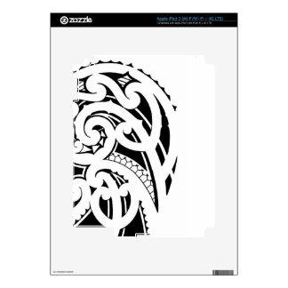 Maori shoulder tattoo design skin for iPad 3