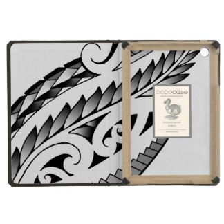 Maori silverfern tattoo pattern with fern leafs iPad mini retina case