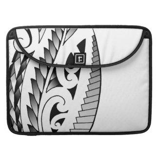 Maori silverfern tattoo pattern with fern leafs sleeves for MacBooks