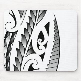 Maori silverfern tattoo pattern with fern leafs mouse pad