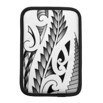 Maori silverfern tattoo pattern with fern leafs sleeve for iPad mini