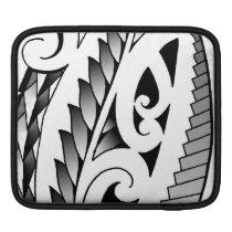 Maori silverfern tattoo pattern with fern leafs sleeve for iPads