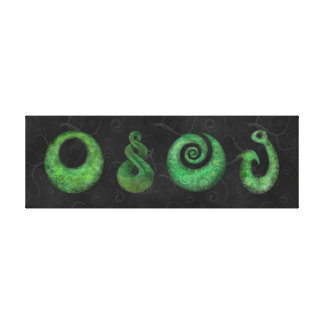 Maori symbols canvas print