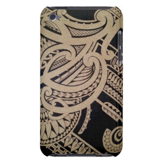 Maori tattoo art in mixed tribal style iPod touch case