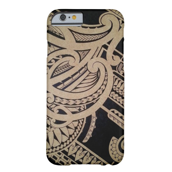 Maori tattoo art on wood barely there iphone 6 case zazzle for Tattoo artist iphone cases