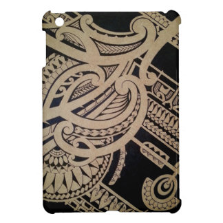 Maori tattoo art on wood iPad mini covers