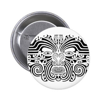 Maori Tattoo - Black and White Buttons