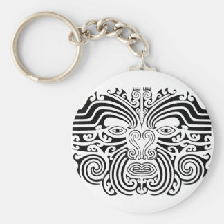 Maori Tattoo - Black and White Keychain