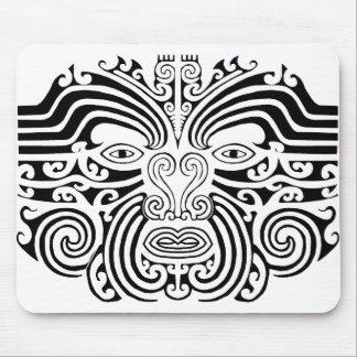 Maori Tattoo - Black and White Mousepads