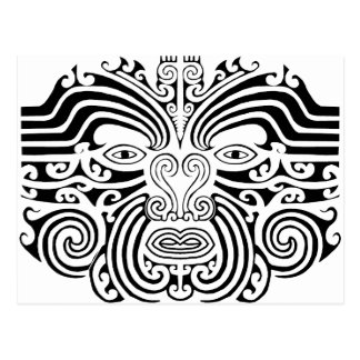 Maori Tattoo - Black and White Postcard