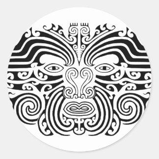 Maori Tattoo - Black and White Sticker