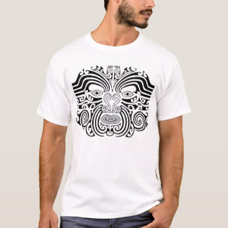 Maori Tattoo - Black and White T-Shirt