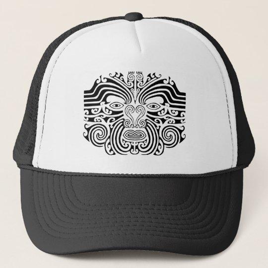 Maori Tattoo - Black and White Trucker Hat